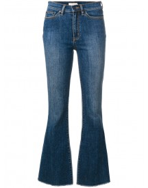 Tory Burch - Cropped Flared Jeans - Women - Cotton/polyester/spandex/elastane - 28 afbeelding