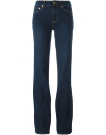 Tory Burch - Flared Jeans - Women - Cotton/polyester/spandex/elastane/wool - 26 afbeelding