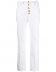 Tory Burch High Waist Jeans - Wit afbeelding