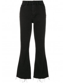 Tory Burch Wade Frayed Flare Jeans - Zwart afbeelding