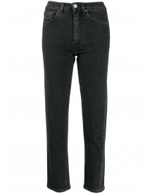 Totême Cropped Straight Jeans - Grijs afbeelding