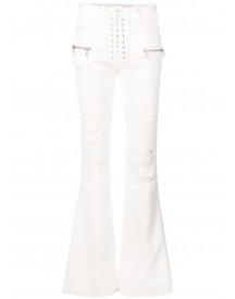 Unravel Project Flare Jeans - Wit afbeelding