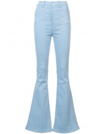 Unravel Project - High Waist Flared Jeans - Women - Cotton/polyester/spandex/elastane - 25 afbeelding