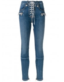 Unravel Project - Lace-up Jeans - Women - Cotton/polyester/spandex/elastane - 25 afbeelding