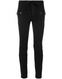 Unravel Project - Lace-up Jeans - Women - Cotton/polyester/spandex/elastane - 29 afbeelding