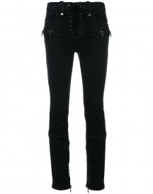 Unravel Project - Lace Up Skinny Denim Jeans - Women - Cotton/polyester/spandex/elastane - 27 afbeelding