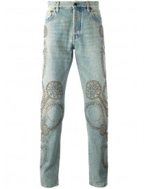 Valentino - Studded Straight-leg Jeans - Men - Cotton/polyester - 31 afbeelding