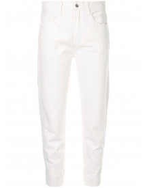 Venroy High-waist Jeans - Wit afbeelding