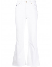 Versace Jeans Couture Cropped Jeans - Wit afbeelding
