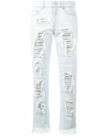 Versus - Distressed Jeans - Women - Cotton/polyester/metal - 25 afbeelding