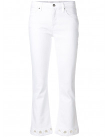 Victoria Victoria Beckham Cut-out Detail Jeans - Wit afbeelding