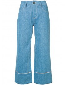Vionnet - Cropped Wide Leg Jeans - Women - Cotton - 40 afbeelding