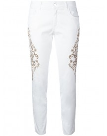 Wandering - Embroidered Jeans - Women - Cotton/spandex/elastane - 42 afbeelding