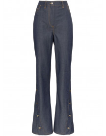 Wright Le Chapelain Button Detail Flared Jeans - Blauw afbeelding