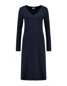 Filippa K V-neck Dress In Navy - 24145 2830 afbeelding