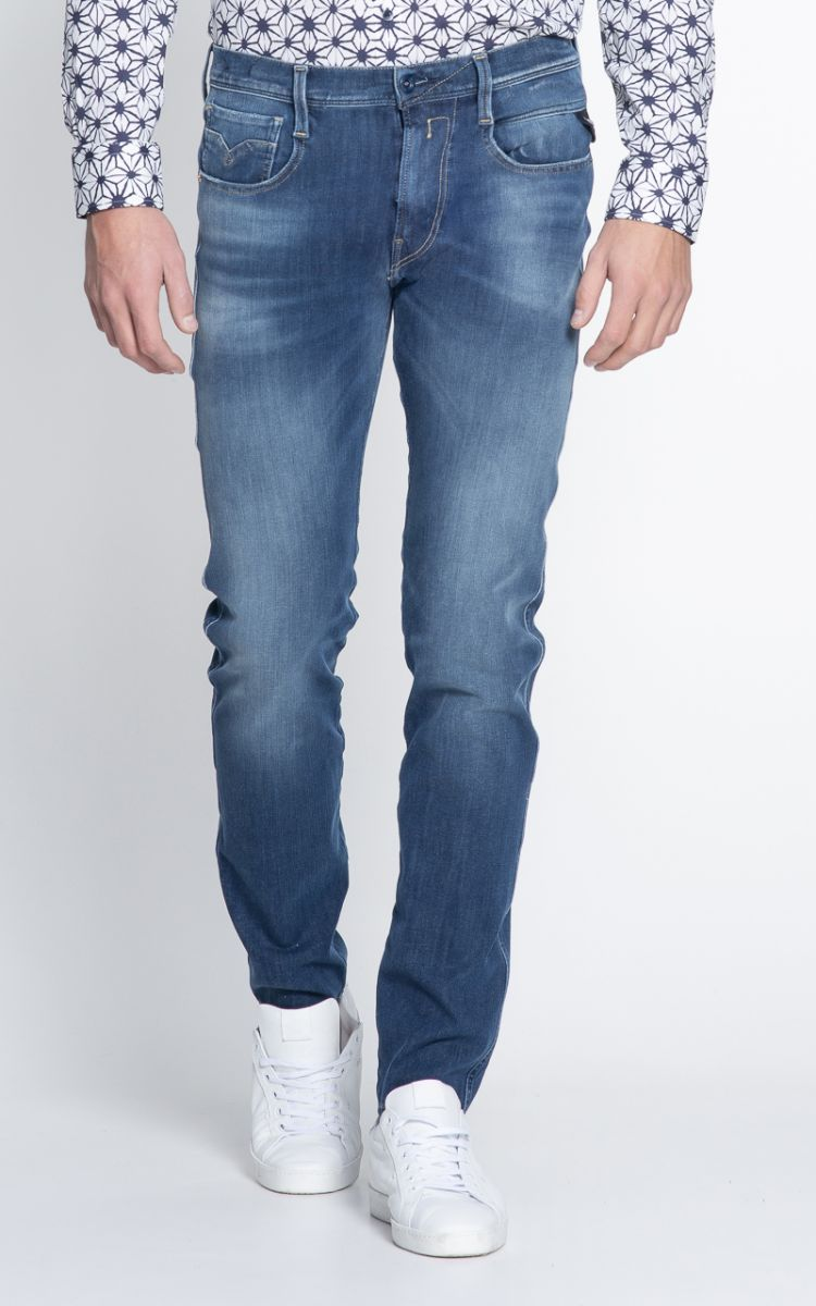 Image Replay Anbass Hyperflex Heren Jeans