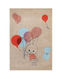 Art For Kids Kindertapijt Balloon Rabbit- 140x200 Cm afbeelding