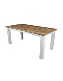 Hsm Collection Eettafel Provence 160x90 Cm - Naturel/wit afbeelding