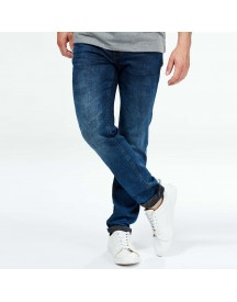 Slimfit Stretch Jeans Met Washed Effect afbeelding