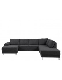 Bank Everton Met Chaise Longue Links - Antraciet afbeelding