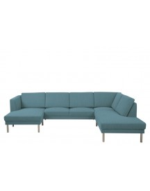 Hoekbank London Met Chaise Longue Links Petrol afbeelding
