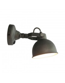 Led Wandlamp Bow L Burned Steel afbeelding