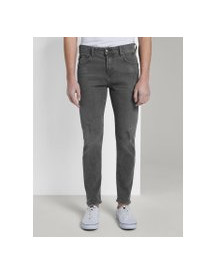 Tom Tailor Denim Conroy Tapered Jeans, Heren, Destroyed Mid Stone Grey Denim, 34/32 afbeelding