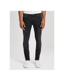 Tom Tailor Denim Culver Skinny Jeans , Heren, Used Dark Stone Black Denim, 32/32 afbeelding