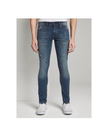 Tom Tailor Denim Culver Skinny Jeans, Heren, Used Dark Stone Blue Denim, 36/32 afbeelding