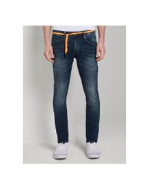 Tom Tailor Denim Culver Super Skinny Performance Stretch Effect, Heren, Used Dark Stone Blue Denim, 34/34 afbeelding
