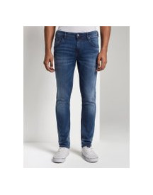Tom Tailor Denim Jeans Culver Skinny , Heren, Used Dark Stone Blue Denim, 34/32 afbeelding