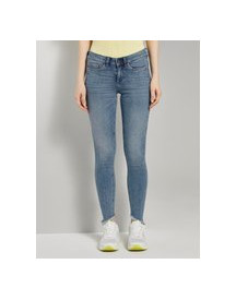 Tom Tailor Denim Jona Extra Skinny Jeans Met Fringe, Used Mid Stone Blue Denim, 28 afbeelding