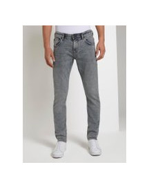 Tom Tailor Denim Piers Slim Jeans, Heren, Used Bleached Grey Denim, 30/32 afbeelding