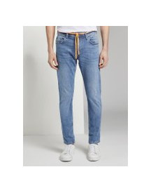 Tom Tailor Denim Piers Slim Performance Stretch Effect, Heren, Used Light Stone Blue Denim, 33/32 afbeelding