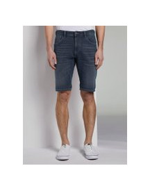 Tom Tailor Denim Regular Denim Shorts In Donkere Wassing, Heren, Grey Denim, M afbeelding