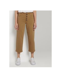 Tom Tailor Mine To Five Kate Rechte Culotte, Clay Beige, 27 afbeelding