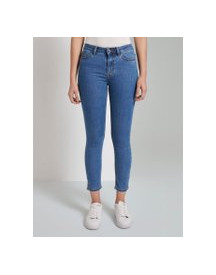 Tom Tailor Mine To Five Kate Skinny Jeans Met Korte Zijsplitten, Clean Mid Stone Blue Denim, 32 afbeelding
