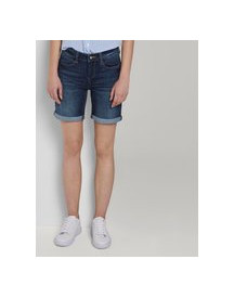 Tom Tailor Alexa Slim Bermuda Denim Shorts, Dark Stone Wash Denim, 30 afbeelding