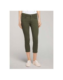 Tom Tailor Alexa Slim Jeans 7/8, Grape Leaf Green, 30/26 afbeelding