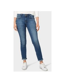 Tom Tailor Alexa Slim Jeans, Dames, Light Stone Wash Denim, 32/32 afbeelding
