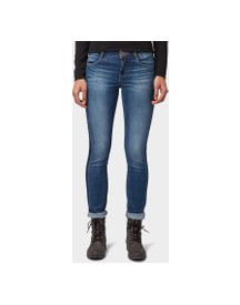 Tom Tailor Alexa Slim Jeans, Dames, Used Mid Stone Blue Denim, 30/30 afbeelding