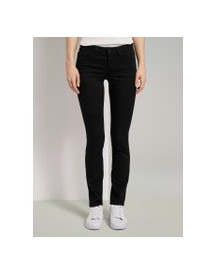 Tom Tailor Alexa Slim Jeans In Groen, Dames, Black Denim, 27/32 afbeelding