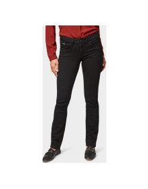 Tom Tailor Alexa Straight Jeans, Dames, Black, 36/32 afbeelding