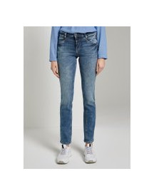 Tom Tailor Alexa Straight Jeans, Dames, Mid Stone Wash Denim, 27/32 afbeelding