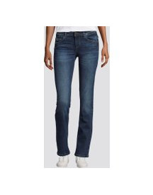 Tom Tailor Alexa Straight Jeans, Dames, Mid Stone Wash Denim, 32/32 afbeelding