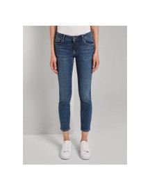 Tom Tailor Carrie Slim Jeans, Dames, Clean Dark Stone Blue Denim, 31 afbeelding