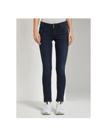 Tom Tailor Carrie Slim Jeans, Dames, Dark Stone Blue Black Denim, 27/32 afbeelding