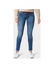 Tom Tailor Carrie Slim Jeans, Dames, Mid Stone Wash Denim, 34/32 afbeelding