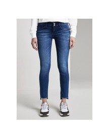 Tom Tailor Carrie Slim Jeans, Dames, Used Mid Stone Blue Denim, 33 afbeelding