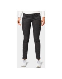 Tom Tailor Carrie Straight Jeans, Dames, Black Denim, 33/30 afbeelding